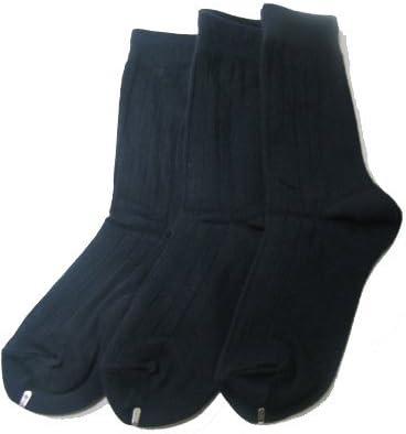 6-7.5, navy Ambra Memoi 3 pair pack boys crew socks cotton blend c10950