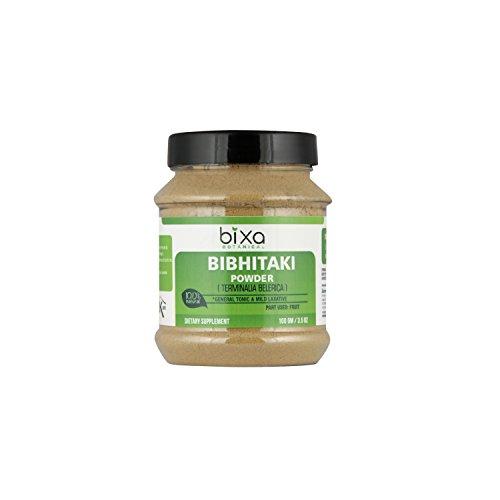 Bibhitaki Powder (Terminalia Belerica) – 100g (3.5 oz) Natural Mild Laxative & General Tonic | Ayurvedic Herbal Supplement to Eliminate Toxic Waste from intestine, Tonic for Eyes & Hairs