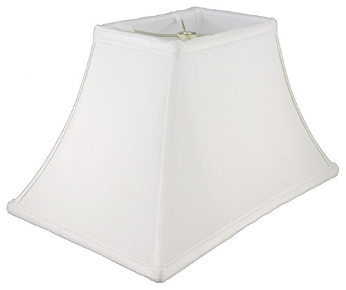 (Upgradelights White Silk 14 Inch Rectangle Bell Washer Lampshade Replacement )