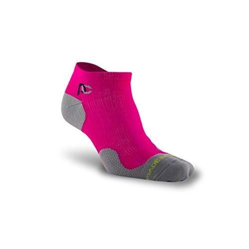 PRO Compression: Trainer (Low-Profile) Compression Socks, Pink, 2 Pairs, (Triathlon Low Cut)