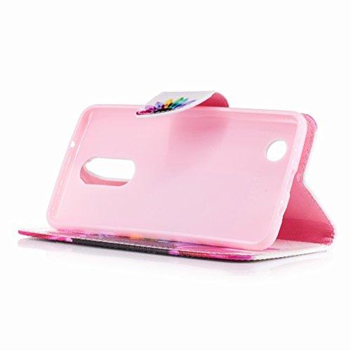 Yiizy LG K8 (2017) / X300 / M200N Custodia Cover, Petalo Design Sottile Flip Portafoglio PU Pelle Cuoio Copertura Shell Case Slot Schede Cavalletto Stile Libro Bumper Protettivo Borsa