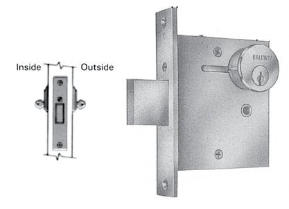 Baldwin 8555 Double Cylinder Mortise Deadlock with 2-1/2