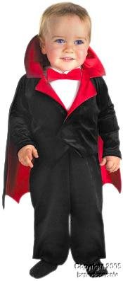 [Lil' Vampire Costume: Baby's Size 12-18 Months] (Halloween Scary Babies)