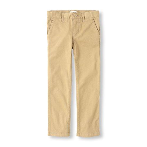 The Children's Place Big Girls' Uniform Skinny Pant, Sandy, 6X/7