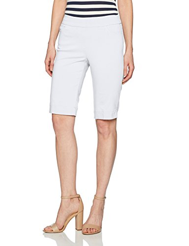 (SLIM-SATION Women's Shorts, White, Size 12)