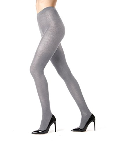 - Memoi Cashmere Blend Sweater Tights | Women's Hosiery - Pantyhose Lt Grey Heather ML 504 Small/Medium