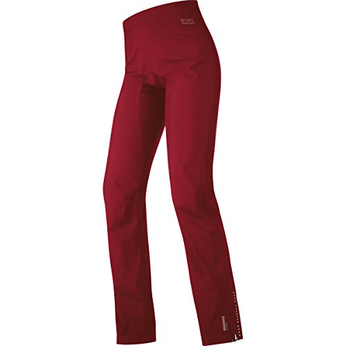 Gore Running Wear Air Windstopper Active Shell Lady - Pantalones de running para mujer, color rojo, talla 36 Rojo (ruby red / lumi orange)