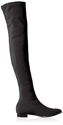 Le Babe Womens Over The Knee Flat Stretch Boot Black KtTU2j