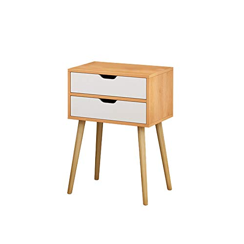 - Stylish Assemble Storage Cabinet, CSSD Yellow Nightstand with 2 Fabric Drawers, Bedside Table Bedroom Side Table, Modern Accent Table, Sturdy and Easy Assembly(Ship from US) (40x30x58cm, Yellow)