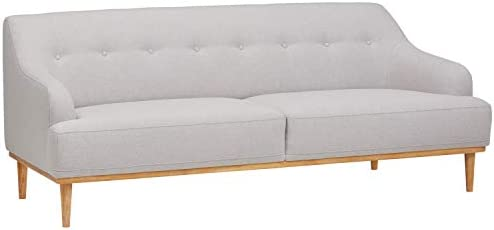 Amazon Brand Rivet Alvin Contemporary Sofa Couch, 81 W, Light Grey