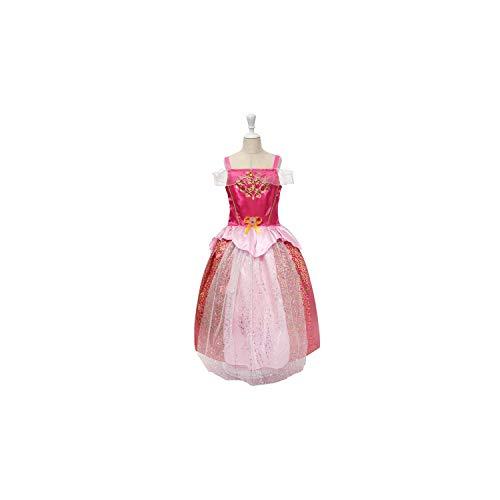 Girl Costume Rapunzel Up Snow White Princess Cinderella Aurora Sofia Halloween Party Cosplay,Sleeping Beauty,7 -