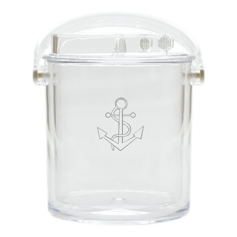 Carved Solutions Acrylic Insulated Ice Bucket With Tongs -Anchor