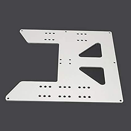 Adanse 3D Printer Upgrade Y Carriage Anodized Aluminum Plate for A8 Hotbed Support for Prusa I3 Anet A8 3D Printers Silver