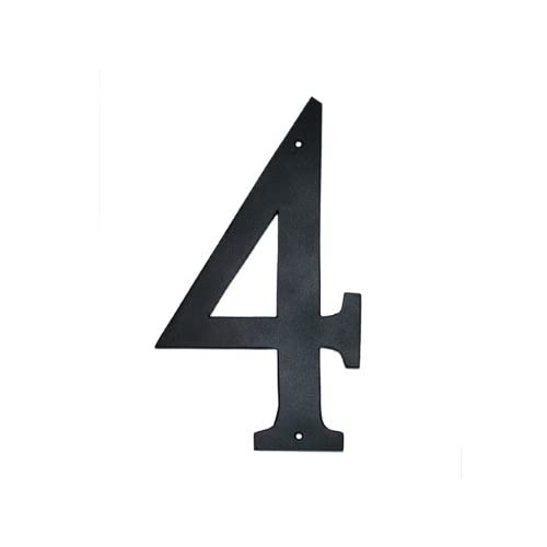 Montague Metal Products Standard Font Individual House Number, 4, 8-Inch