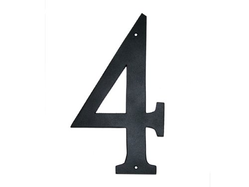 Montague Metal Products Standard Font Individual House Number, 4, (House Number Four)