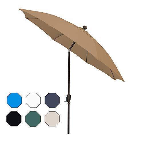 FiberBuilt Umbrellas AZ9HCRCB-T-Beige Patio Umbrella, Beige