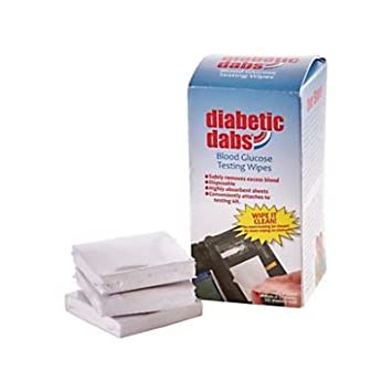 Diabetic Dabs Super Absorbent Wipes, Portable, Quick Dispensing, Non-Toxic,  Convenient Surface