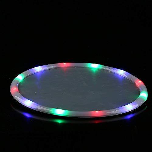 Fun Central P905, 1 Pc 14 Inches Multicolor LED Light Up Serving Tray, Food Serving Tray, Serving Tray for Parties, Serving Platter, Light Serving Trays, Party Trays, Food Tray, Glow Party