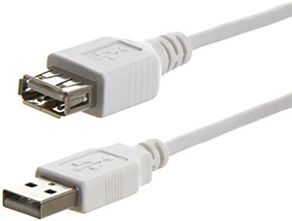QVS CC2210-06 6 ft USB 2.0 High-Speed 480Mbps Beige Extension Cable