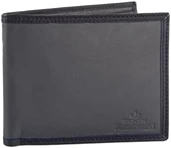 Wallet man EGON FURSTENBERG grey in leather with coin purse VA313