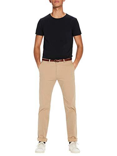 Scotch & Soda Men's Cotton/Stretch Belted Chino, Khaki, 31 (Cotton Belted Stretch)