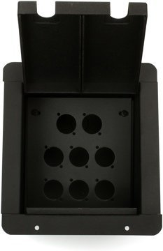 Pro Co Sound PM8P Recessed Floor Box with 8 Connector Holes Punched by Pro Co Sound