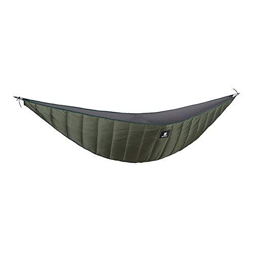 - OneTigris Hammock Underquilt, Lightweight Camping Quilt, Packable Full Length Under Blanket (OD Green - 3 Seasons Underquilt)