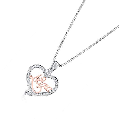 Nattaphol ure 925 Sterling Silver Love Heart Pendant with Box Charm AAA Zircon Genuine Sterling Silver Necklace for Women Mother's - Diamond Box Gift Sterling Genuine
