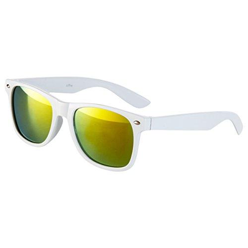 Retro Ciffre STYLE Lunettes de Norme Nerd Vintage 400 Blanc Soleil UV®400 UV Lunette wqYw4g