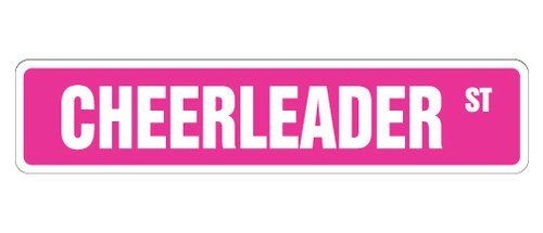 [SignJoker] CHEERLEADER Street Sign cheerleading dance dancer gift Wall Plaque Decoration