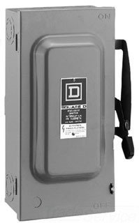Square D D222N 60 Amp 240Volt TwoPole Indoor General Duty Fusible Safety Switch with Neutral by SQUARE D by Square D