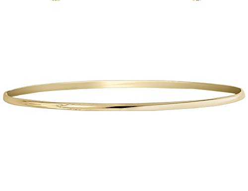 Polished Half Round Slip On Bangle in 14K Yellow Gold (2.00 mm) 14k Yellow Gold Slip