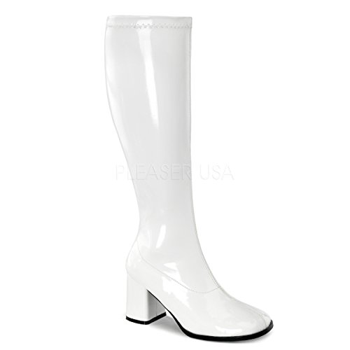 Funtasma by Pleaser Women's Gogo-300W,White Patent,6 M -