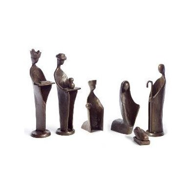 6-Pc Mini Nativity Set in Bronze Finish