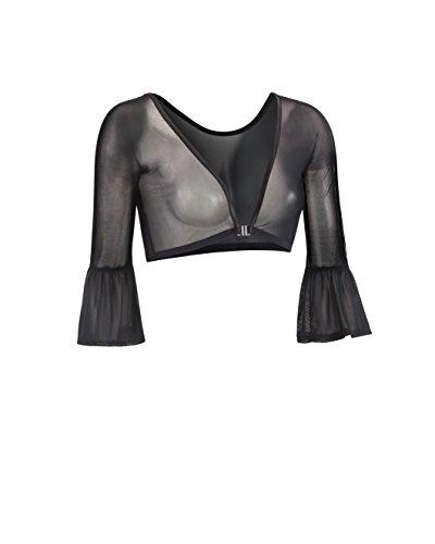 Sleevey Wonders Women's Bell 3/4 Length Slip-on Mesh Sleeves M Black