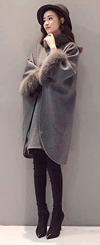 Outwear Sciolto Parka Giacca Donna L'inverno Cappotto Mantello Unita Pengyue Semplice Tinta Scialle Grigio Soprabito Selvaggio Felpa Girocollo 1 Nella Personalità L'autunno Trench E YAWEnWptqw