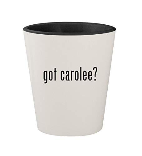 - got carolee? - Ceramic White Outer & Black Inner 1.5oz Shot Glass