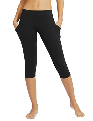 (Baleaf Women's Yoga Workout Capris Leggings Side Pocket for 5.5