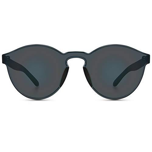 - WearMe Pro - Colorful One Piece Transparent Round Super Retro Sunglasses