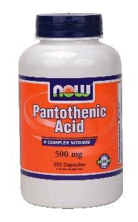 Maintenant Acide pantothénique Foods, 250 capsules / 500 mg (Pack de 2)