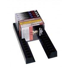 (Multimedia Storage and Organizers, Storage Rails Cssette/CD/DVD, Black)