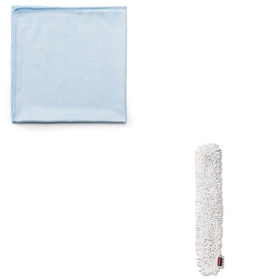 KITRCPQ630RCPQ853WHI - Value Kit - RUBBERMAID COMMERCIAL PROD. HYGEN Quick-Connect Microfiber Dusting Wand Sleeve (RCPQ853WHI) and Rubbermaid Reusable Cleaning Cloths (RCPQ630)