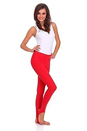 FUTURO FASHION Winter Style Full Length Very Warm Thick Heavy Cotton Stirrup Leggings (Fleece Inside) Sizes 8-22 LSYX