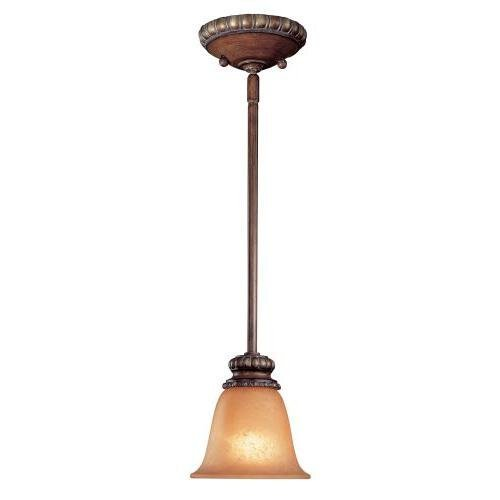 Minka Lavery 950-126, Belcaro Mini Cone Pendant, 1 Light, 100 Total Watts, Walnut by Minka Lavery -