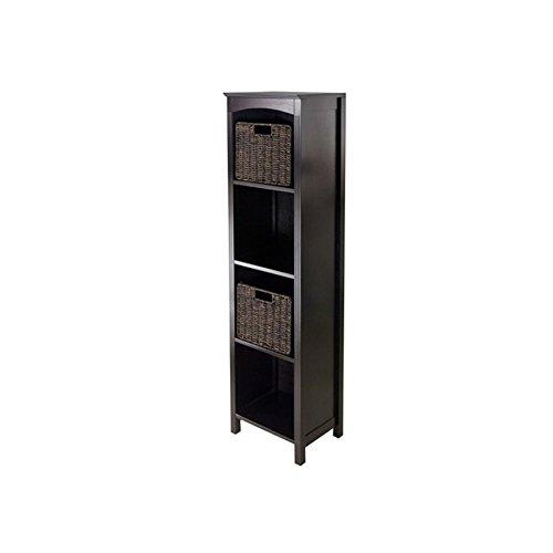 Winsome Terrace 3 Piece Storage 5 Tier Shelf with 2 Small Ba