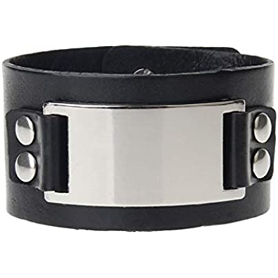 ZUOZUO Leather Wristband Black Brown Leather Bracelet And Bracelet Jewelry Punk Cool Men S Bracelet Bracelet Estimated Price £23.99 -