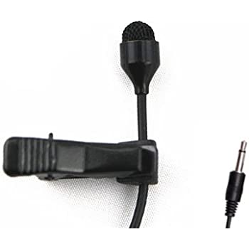 JK MIC-J 044 Lavalier Lapel Clip On Omni-directional Condenser Microphone For Computer Voip Skype Laptop Voice Amplifier (Mono 3.5mm Plug)