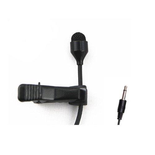 JK MIC-J 044 Lavalier Lapel Clip On Omni-Directional Condenser Microphone Compatible with Computer Voip Skype Laptop Voice Amplifier (Mono 3.5mm Plug)