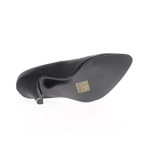 Escarpins noirs mats à talons aiguille de 10cm pointus