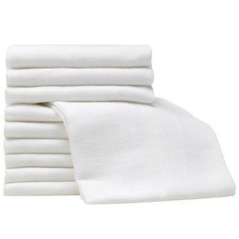 Lot de 12 carrés de tissu réutilisables pour bébé 100% coton Pour couche/bavoir/lingette Couleurs variées 70 x 70cm dudeybaba